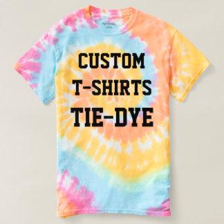 Camiseta T-SHIRT do TIE-DYE dos homens personalizados