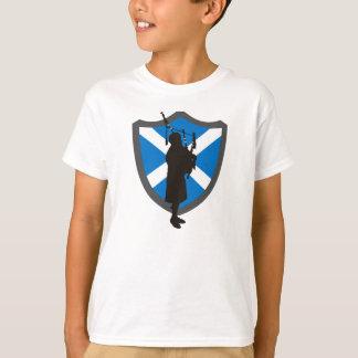 Camiseta T-shirt do tocador de gaita-de-foles dos miúdos: