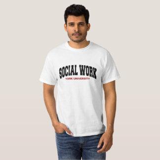 Camiseta T-shirt do trabalho social: Branco