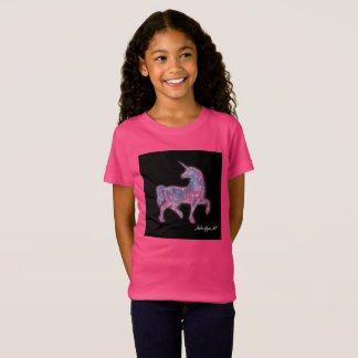 Camiseta T-shirt do unicórnio da menina