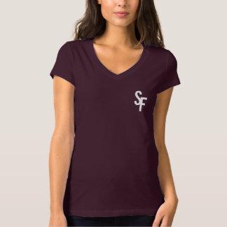 Camiseta T-shirt do V-Pescoço