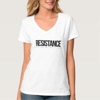 Camiseta T-shirt do V-pescoço da resistência
