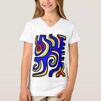 """Camiseta T-shirt do V-Pescoço das meninas da """"maravilha"""""""
