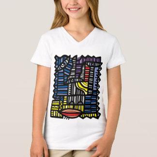 """Camiseta T-shirt do V-Pescoço das meninas da """"paixão"""""""