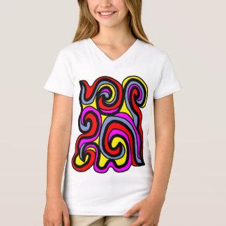 """Camiseta T-shirt do V-Pescoço das meninas da """"sinceridade"""""""