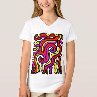 """Camiseta T-shirt do V-Pescoço das meninas do """"carisma"""""""