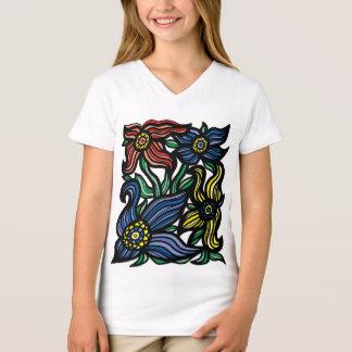 """Camiseta T-shirt do V-Pescoço das meninas do """"crescimento"""""""