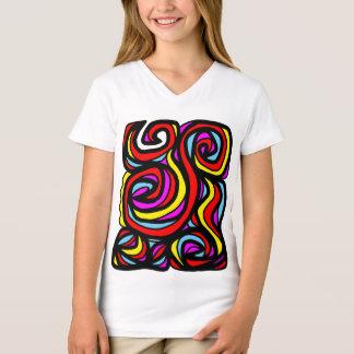 """Camiseta T-shirt do V-Pescoço das meninas """"doces"""""""