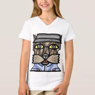 """Camiseta T-shirt do V-Pescoço das meninas """"intuitivas"""""""