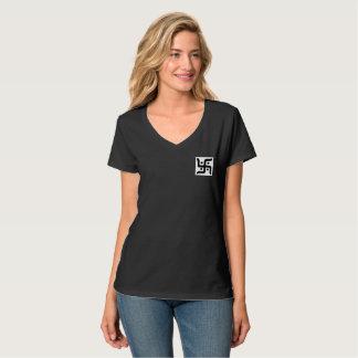 Camiseta T-shirt do V-Pescoço das mulheres