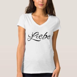"""Camiseta T-shirt do V-Pescoço das mulheres do """"amor"""" de"""