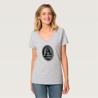 Camiseta T-shirt do V-Pescoço de Moto Lisas - escolha sua