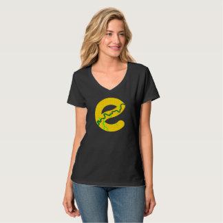 Camiseta T-shirt do V-pescoço do mapa de Edmonton