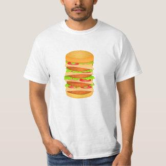 Camiseta T-shirt do valor com impressão grande do
