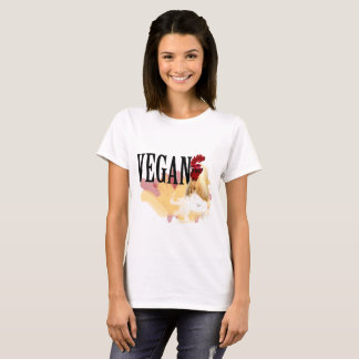 Camiseta T-shirt do Vegan - a galinha magnífica