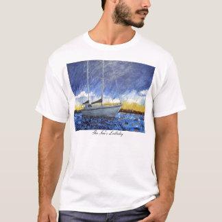 Camiseta T-shirt do veleiro do por do sol