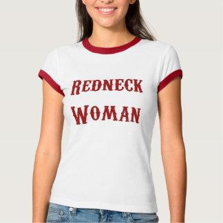 Camiseta T-shirt do vermelho da mulher do campónio