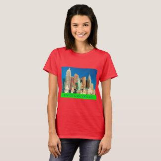 Camiseta T-shirt do vermelho de Las Vegas do amor