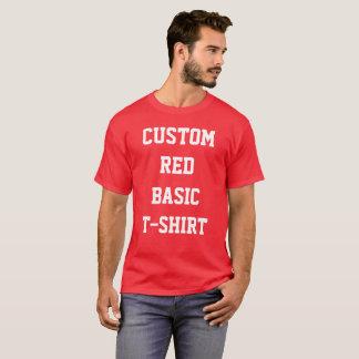 Camiseta T-SHIRT do VERMELHO do BASIC dos homens