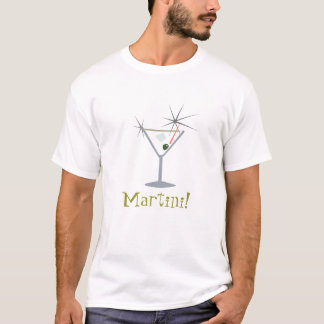 Camiseta T-shirt do vidro de Martini