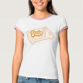 Camiseta T-shirt do vinil da liberdade ou da morte