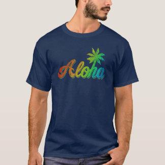 Camiseta T-shirt do vintage Aloha - arco-íris clássico