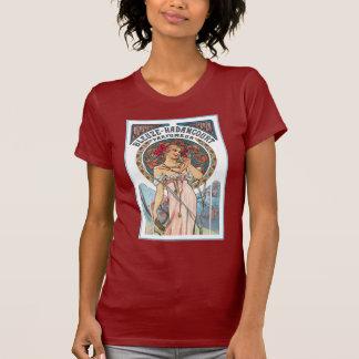 Camiseta T-shirt do vintage: Anúncio do perfume de Mucha