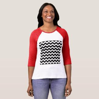 Camiseta T-shirt do vintage com bw do ziguezague