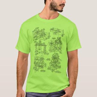 Camiseta T-shirt do vintage do brinquedo do funileiro