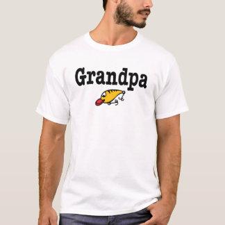 Camiseta T-shirt do vovô da pesca com atração da pesca dos