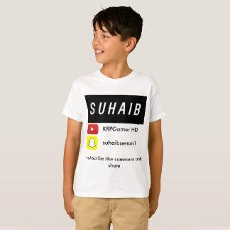 Camiseta T-shirt do youtube de Suhaib