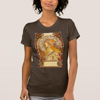 Camiseta T-shirt do zodíaco de Nouveau da arte