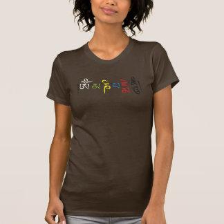 Camiseta T-shirt do zumbido do OM Mani Padme