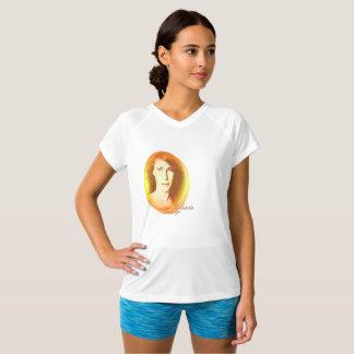 Camiseta T-shirt Dobro-Seco do V-Pescoço do trunfo de