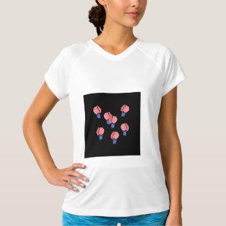 Camiseta T-shirt Dobro-Seco dos esportes das mulheres dos