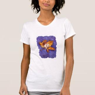 Camiseta T-shirt doce da fada da chuva do outono