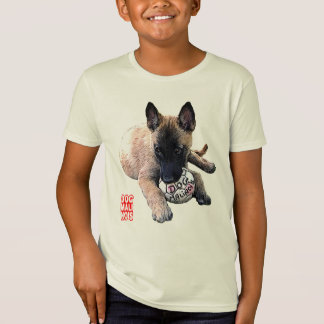 Camiseta t-shirt dog malinois