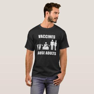 Camiseta T-shirt dos adultos da causa das vacinas
