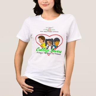 Camiseta T-shirt dos amantes da faculdade, branco