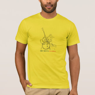 Camiseta T-shirt dos animais do jazz dos homens