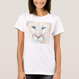 Camiseta T-shirt dos animais selvagens da cara do puma
