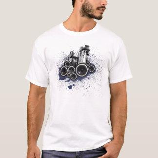 Camiseta T-shirt dos auto-falante