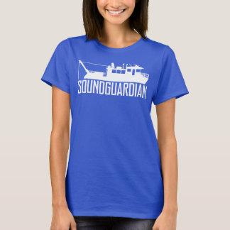 Camiseta T-shirt dos azuis marinhos das mulheres sadias do
