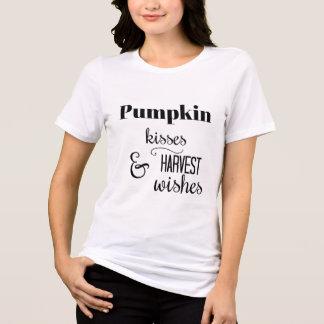 Camiseta T-shirt dos beijos da abóbora & dos desejos da