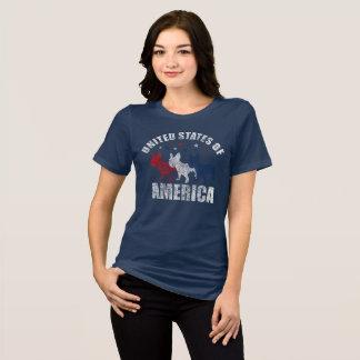 Camiseta T-shirt dos buldogues franceses e das estrelas dos