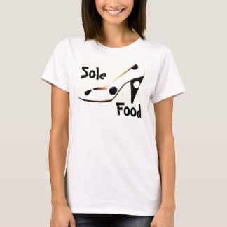 Camiseta T-shirt dos calçados da forma alta