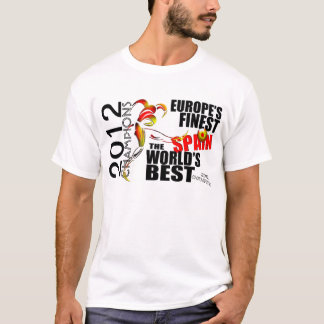 Camiseta T-shirt dos campeões do copo da espanha 2012 euro-