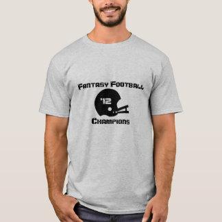 Camiseta T-shirt dos campeões do futebol da fantasia