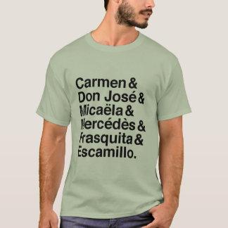 Camiseta T-shirt dos caráteres de Carmen