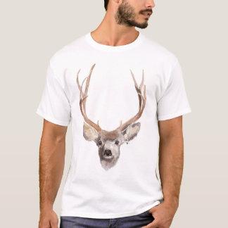 Camiseta T-shirt dos cervos da caça com ilustração